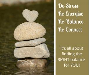 De-stress Re-energise Re-balance Re-Connect