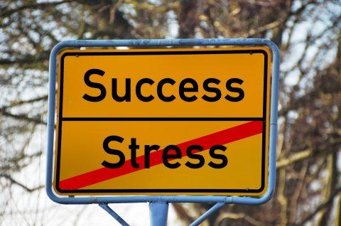 stress success sign