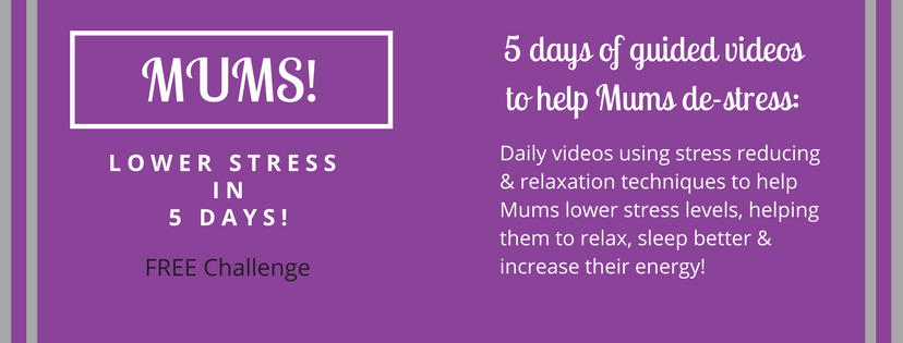 MUMS! lower your stress levels in 5 days - website banner